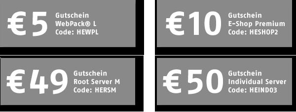 Host Europe: Mit Gutscheincodes bis zu 50 Euro Rabatt auf Webhosting-Produkte