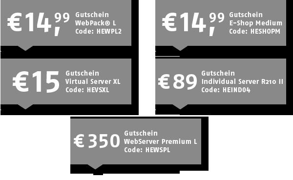 Host Europe: Exklusive Gutscheine für WebPack L, eShop und diverse Server-Produkte