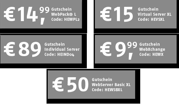 Host Europe: Mit Gutscheincodes beim Hosting bis zu 89 Euro sparen