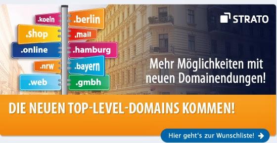 Tipp: Jetzt neue Domainendungen bei Strato registrieren